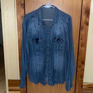 Woman's plus size maurices button down shirt 3xl